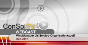 Titelbild WebCast MindManager als Serviceorganisationstool